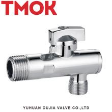 cromado plateado usado en baño latón válvula de ángulo