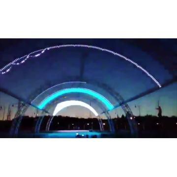 Luz pontual LED colorida para iluminação de fachada
