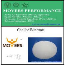 Bitartrate de choline de haute qualité / Bitartrate de L-choline / bitartrate de Dl-choline
