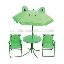 Cute Kids plegable mesa y silla portátil Set \ niños ocio al aire libre usando mesa y reposabrazos silla Set