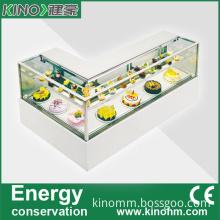 Glass Commercial Display Cake Refrigerator Showcase
