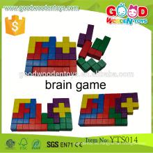Juegos de Aprendizaje Clásicos Bloques de Madera Educativos-12pcs Bloqueo de Bloc