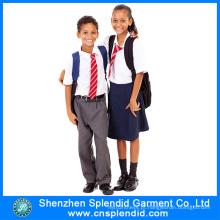 Uniforme da escola do estilo da forma do estilo da fabricação de Shenzhen