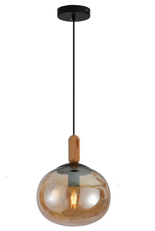 Amber Glass Ceiling Lamp