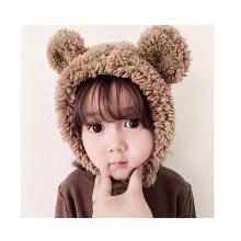Bonnet d'oreille en peluche tricoté pour enfants