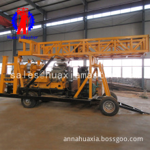 wheeled type hydraulic core drill suitable for high-speed medium and deep borehole drilling in complex rock formation