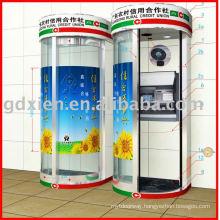 Automatic ATM bank door