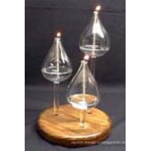 Термостойкие подсвечник свечи, сделанные боросиликатное стекло