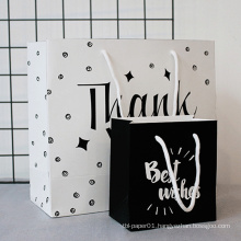 MOQ 500 Custom Woodfree Hand Art Paper Bag