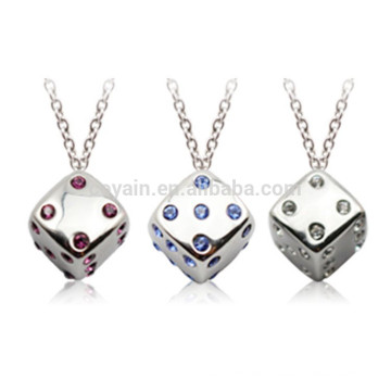 Herstellung von Kunstschmuck 3D Silber Metall Würfel Halskette