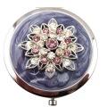 Espelhos compactos de lótus de cristal