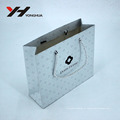 Brilliant Custom Design Print Private Brand Logo Cosmetic or Shopping Packing Silver Paper Bag