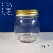 11oz 320ml Round Glass Food Jar Glass Honey Jar with Metal Lid