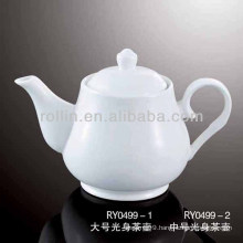 healthy durable white porcelain oven safe tea pot with lid