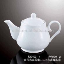 Saudável forno de porcelana branca durável cofre chá pot com tampa