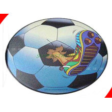Unique Football Printing Wrist Rest Computer Round Customize Mouse Pads For Office, Home
