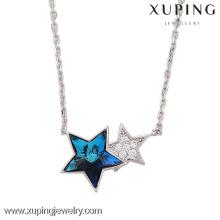 Bijoux mode 2017 Nestest, collier étoile en cristal avec cristaux de Swarovski