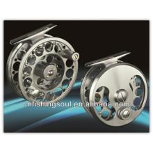 FLR005 Engins de pêche réel et en aluminium pêche à la mouche bobine moulinet