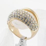 Nuovi gioielli moda oro placcato strass anelli anello nuziale per le donne