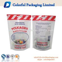 Preço de atacado de alimentos grade ziplock plástico stand up pouch tempero sacos de pimenta