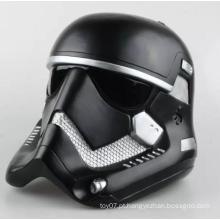 Black 1/6 escala para baixo capacete personalizado plástico boneca boneca brinquedos