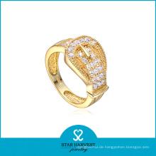 Art und Weise goldener Schmucksache personifizierter silberner Ring (SH-R0041)