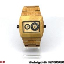 Relojes de madera de arce de alta calidad relojes de cuarzo de doble movimiento Hl14