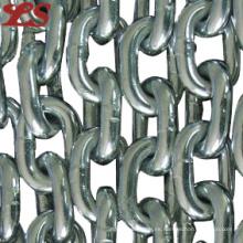 Cadena de enlace galvanizada DIN766 de acero al carbono