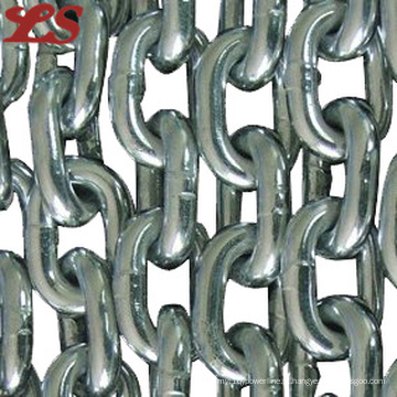 Corrente de ligação galvanizada de aço carbono DIN766
