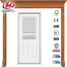 Mini Blind Primed Steel Prehung Front Door with No Brickmold