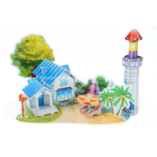 3D Romantic Beach Puzzle