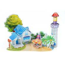 Quebra-cabeça 3D romântica praia