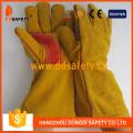 Yellow Cow Split Leather Reinforced Welder Glove Safety Gloves -Dlw410