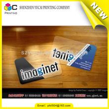 Новые новые прозрачные пластиковые визитные карточки новой модели