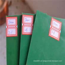 Almofada de borracha de folha de borracha de cor verde de 5 mm na venda