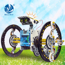 Alibaba New Products DIY Toy 14-in-1 DIY Solar Powered Robot Building Block Toy for Wholesale