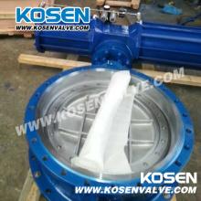 Funcionamiento neumático con bridas válvulas de mariposa (D643)