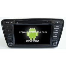Android 4.4 Spiegel-link TPMS DVR 1080 P Dual-Core-Auto-Navigator für Skoda Octavia A7 mit GPS / Bluetooth / TV / 3G