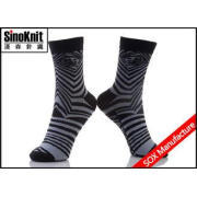 Breathable Zebra Cotton Crew Man Casual Socks with Black An