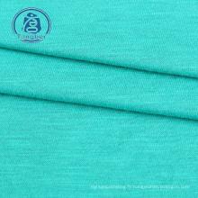 Tissu jersey flammé 100% polyester filé pour t-shirts