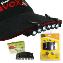 6 LED clip sur la lumière super lumineux mains libres camping torche tête