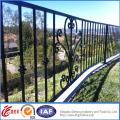 Galvanisierter Palisade-Schmiedeeisen-Zaun
