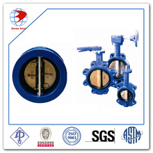 A216 Wcb Main-Wheel Dn50 Pn16 Wafer Type Certer Line Butterfly Valve