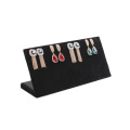 Flock / Suede Alphabet L Design Earring Display Base Stand