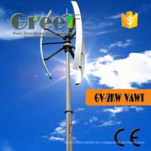 Turbina de viento 2kw de eje vertical con palas de FRP