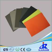Hoja plástica colorida del PE de alta densidad para la industria