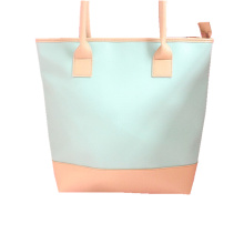 Fashion Lady Leather Shopping Tote handbag with Zipper