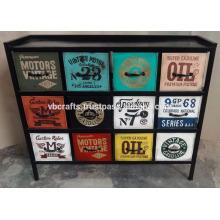 industrial metal cabinet vintage painting
