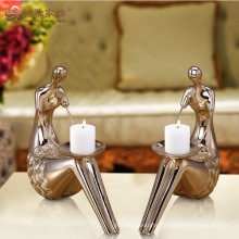 Wholesale wedding deco resin candle holder for home decoration
