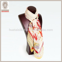 Симпатичный шарф кролика шелка жоржет шарф